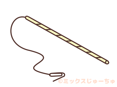 トイレットペーパーの芯のタコ釣りルール画像