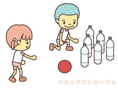 ペットボトルボウリング-ルールイラスト画像1