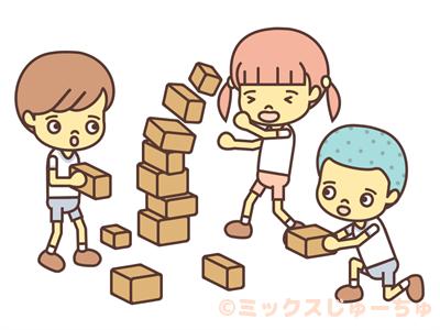 箱積みゲーム-イラスト画像
