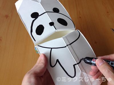 パンダの絵を描く