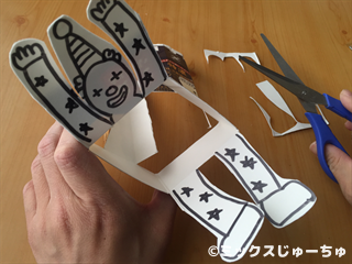牛乳パックダンス人形の作り方22