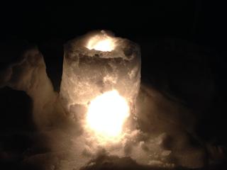 雪の灯篭(とうろう)の作り方