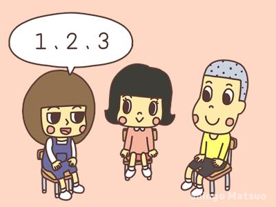 1,2,3,と言う子どものイラスト