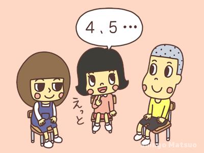 4,5と言う子どものイラスト