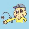 ボールを腕の関節で弾く