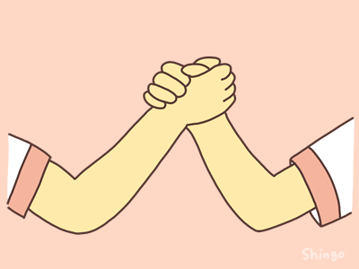 腕相撲の遊び方