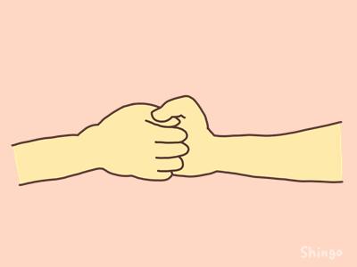 相手の親指を押さえる
