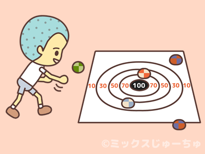 お手玉投げゲームのルール