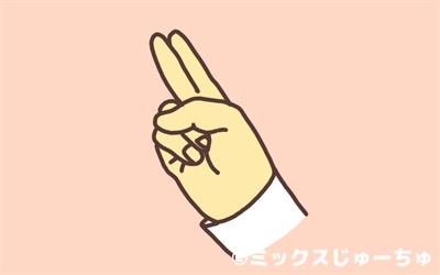 人差し指と中指