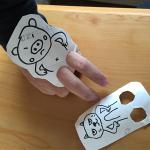 トイレットペーパーの芯の指人形の作り方
