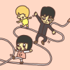 ロープ歩き