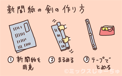 新聞紙の刀の作り方