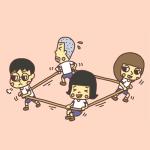 4方向綱引き