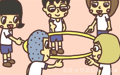 フラフープのレクリエーションゲーム