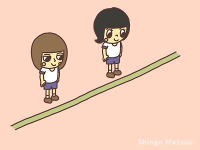 フラフープ渡り競争の遊び方