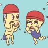 水中にらめっこ