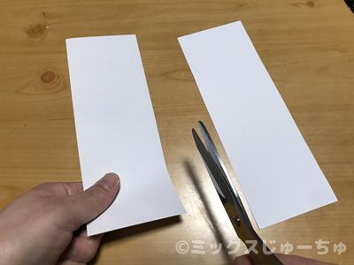 紙を縦長に切る