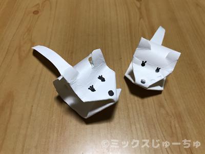 トイレットペーパーの芯のネズミの作り方