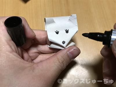 ネズミの顔を描く