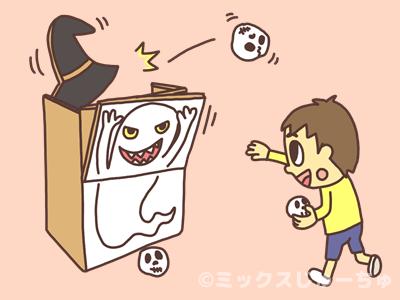 ハロウィンのボール当てゲームの遊び方