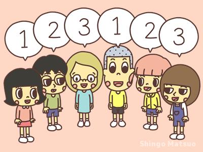 123と言う子どものイラスト