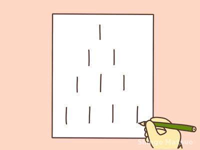 棒けしゲームの線を描く