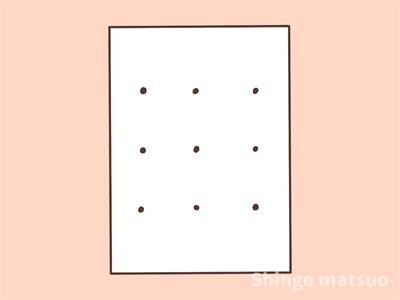 紙に点を描く