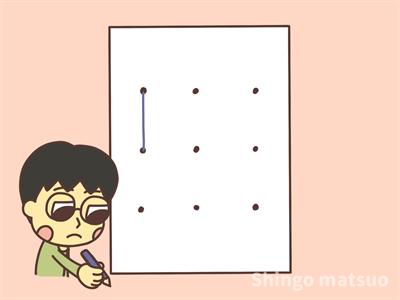 線を引く子供のイラスト