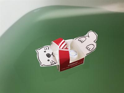 浴槽に浮かぶラッコのおもちゃ