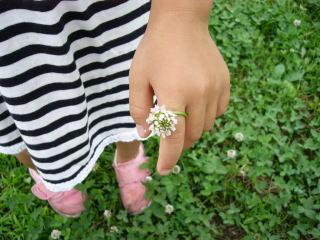 シロツメ草の指輪の作り方と遊び方